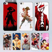 MOUGOL One Piece  Monkey D Luffy design transparent clear hard Case for Xiaomi Mi 5 5s Plus 4 4s redmi note 4 3 4Pro
