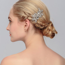 European Design Crystal Bridal Hair Comb Tiara Wedding Accesories(China)