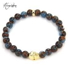 Thomas Colorful Material Mix Featuring Skull Bead Bracelet, Plated Jewelry Rebel Heart Gift for Women TS B378