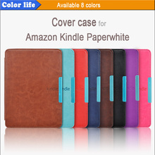 Smart Magnet  Original  Leather Cover Case 100% Fit  for Amazon Kindle Paperwhite+Screeen Protector+Touch Pen with Free Shipping