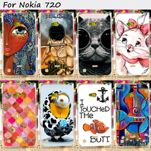 22 Styles Mobile Phone Bags and Cases For Nokia Lumia 720 N720 N720T Cases Anti-Knock Hard Plastic Protective Skin Shell Housing
