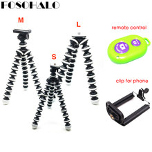 FOSOHALO S/M/L Universal Octopus Mini Tripod Supports Stand Spong For Mobile Phones Small Lightweight DLSR Cameras Accessories(China)