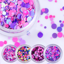 1 Box Shiny Flakes Mixed Color Nail Sequins Mini Round Nail Glitter Paillette Tips Manicure Nail Art Decoration Random Color