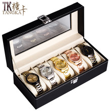 New Fshion Watches Box Leather Black 5 Grids Luxury Jewelry Display Collection Storage Large Size Case Watch Organizer Box