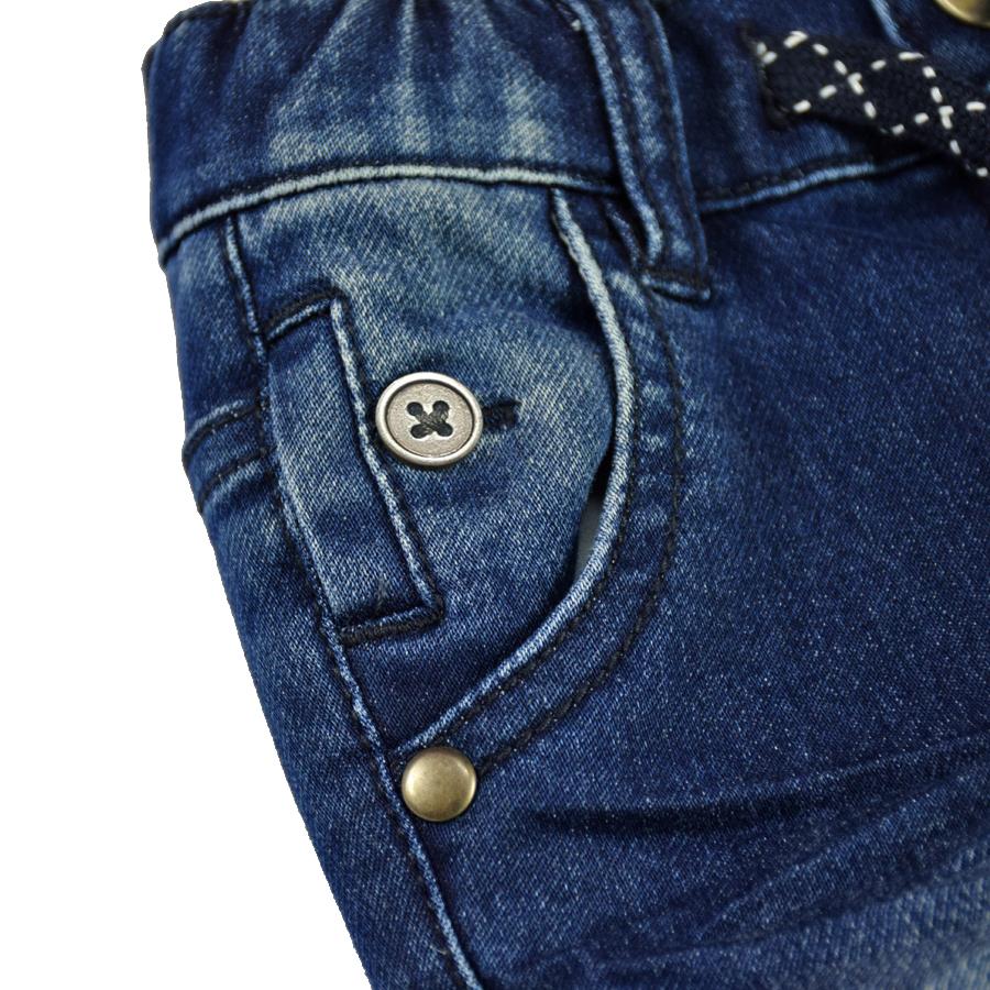 HSIN1609004-4Infant Baby Boy&Girl Denim Jeans Pants Newborn Bebe Soft Harem Pants Toddler Kid Stretch Jeans Solid Trousers Children Clothing