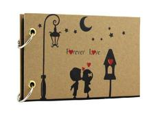 5'' Mini Cute Romantic Couples Black Sheet DIY Handmade Love Theme Kids Scrapbook Photo Album
