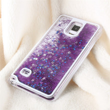 EDAL 7 Colors Shiny Star Liquid Quicksand Case Cover For Samsung Galaxy 4 N9100 Hot Phone Case(China)
