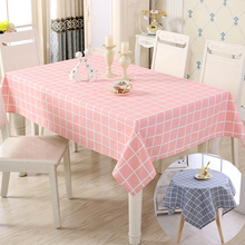 Plaid linen tablecloths for round tables elegant cotton tablecloths rectangle wedding tablecloth for kitchen dinner table cover