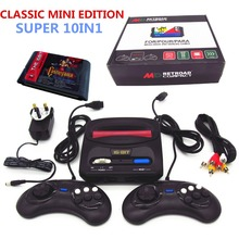 Newest RETROAD mini classic edition 16bit SEGA Genesis/MD compact TV game console with 64P cartridge solt with 10 classic games