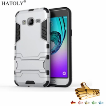 HATOLY For Rubber Cover Samsung Galaxy J3 Case J320 Heavy Hybrid Hard Case for Samsung Galaxy J3 2016 Phone Cases For Galaxy J3<(China)