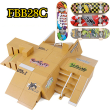 FBB28C 2015 Professional ABS Finger Skateboard Ramps Scene Large Finger Adult Novelty Mini Deck Toys(China)