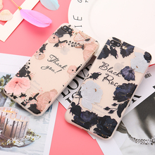 Buy Black Pink Girl Lace Flower Silicone Matte Case iPhone 8 7 6 6S Plus Case Soft Rose Flower Floral Phone Cases Back Cover for $1.99 in AliExpress store