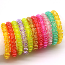 Hot 30 Pcs Strength Elastic Telephone Wire Gum Springs Hair Ring Hair Rope Tie Soft Ponytail Holders Hair Accessories For Women