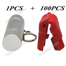 100pcs/lot EAS security hook stop lock anti-theft magnetic stop locking for pegboard slatwall hook+1pcs keyfree shipping