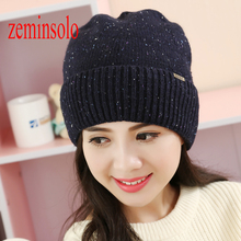 Casual Women's Fall Fashion Hats Girls Wool Twist Pattern Beanies Caps Cotton Winter Hats For Women Female Knitted Warm Skullies