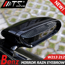 TSWEI Car-Styling rearview mirror rain eyebrow snow guard visor shild gear auto Accessories For Mercedes Benz E Class W213 W212