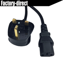 Power cable Fused 3 Pin UK Mains Power Plug to IEC C13 Kettle Lead Cable Cord for PC Monitor TV 5ft 1.5MTS(China)