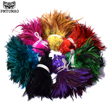 PMYUMAO 100pcs High Quality Pheasant Feathers About 8-15cm Dyed Chicken Feather DIY Natural Jewelry Accessories Plume(China)