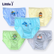 Little J 5Pcs/lot Cartoon Car Boys Panties Cotton Underwear Shorts Kids Briefs Clothes Children Boy Pants Boxer High Quality