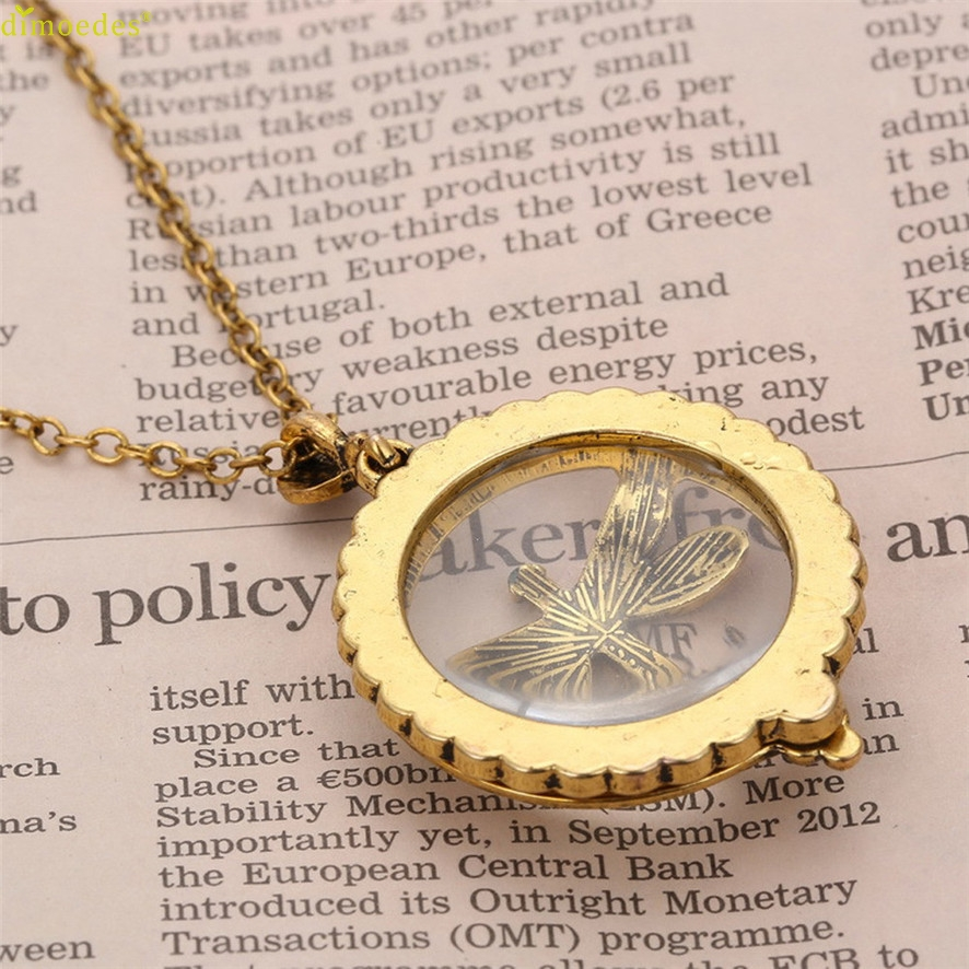 New Ladies European And American Magnifying Glass Gift Necklace Sweater Chain