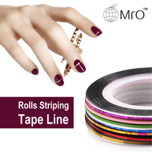 10pcs Rolls Striping Tape Line Nail Art Sticker Tools Foil Tips Tape Line DIY Design Decorations for Nail Accessories Sticker