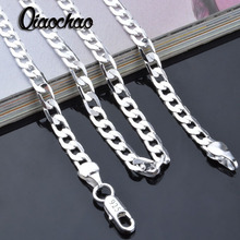 Wholesale 925 sterling solid silver chains necklace 4 mm 16-24inch men fashion necklaces jewelry X83