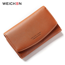 WEICHEN Hasp Wallet For Women with ID Card Holder Small Money Purse Card Hold Cash Bags Short Slim Wallets Ladies Mini Bag(China)