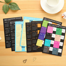 8PC/Lot Creative Year 2017 Rainbow Mini Calendar Stickers Decorative Diary Index Lable Sticker DIY Planner Bookmark Sticker