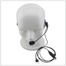 One-Wired Behind-the-head style headset 2-PIN S Plug for ICOM F3 F4 F10 F20 IC-V8 IC-V80 IC-V85 Cobra Ham Radio