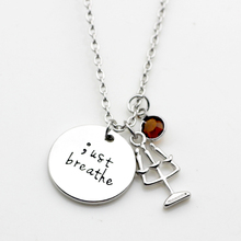 Fashion personality Necklace Celebration birth stone necklace Gifts Semicolon Just  breathe Candlestick Alloy Necklace N251