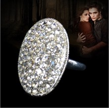 Size 6-10 Jewellery Classic Bella Engagement Twilight Crystal Wedding Lady Ring free shipping(China)