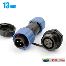M13 3PIN connector Electric butt joint male and female Aviation plug and socket Waterproof quick cable IP68 connector 10pcs