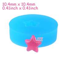 PYL591U 10.4mm Star Silicone Mold - Jewelry, Scrapbooking, Miniature Food, Chocolate, Candy, Icing, Resin Clay, Cookie Biscuit(China)
