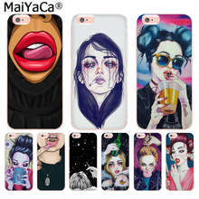 Buy MaiYaCa Cool smoking girl. Fashion Fun Dynamic phone case iPhone 8 7 6 6S Plus X 10 5 5S SE 5C 4 4S Coque Shell for $1.19 in AliExpress store