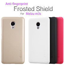 Anti-fingerprint case For Meizu M3s with a screen film Nillkin frosted shield series import mobile phone screen protector(China)
