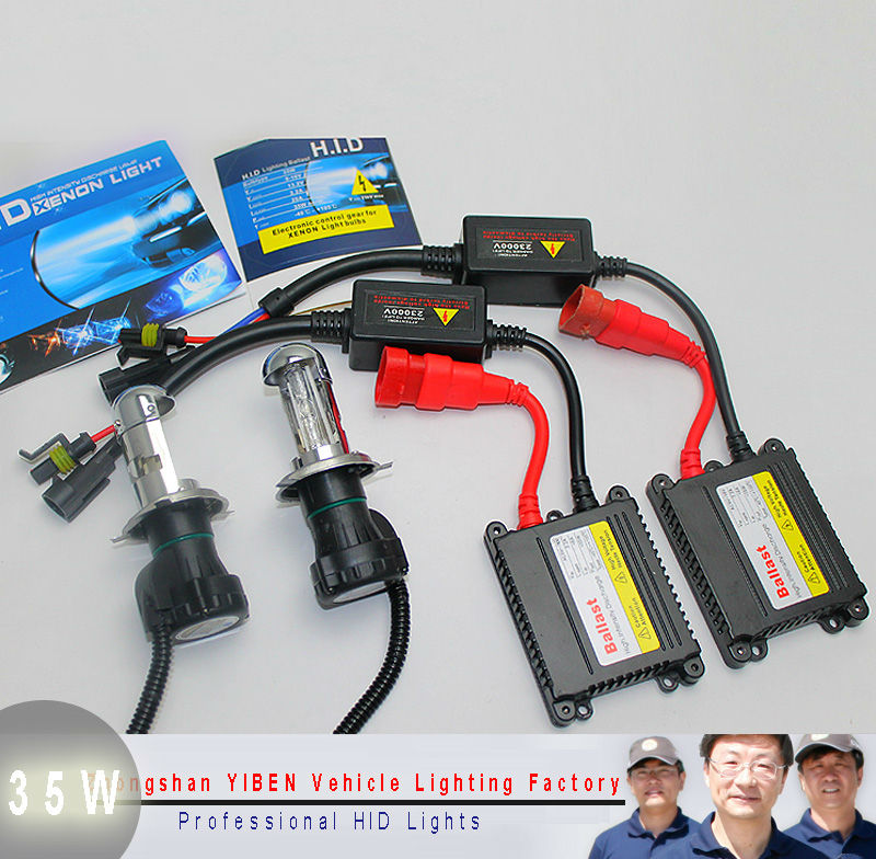Hot!! Slim Hid Kit h4 Bixenon h/l Beam Xenon Light DC 12v 35w Car Lamp  H/L Beam Bi Xenon xenon h4 6000k car light source<br>