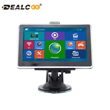 Dealcoo 5 inch HD Car GPS Navigation FM Map Free Upgrade Navitel Europe Sat nav Truck gps navigators automobile(China)