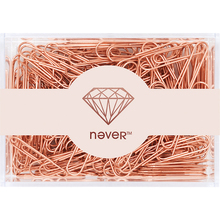 Rose gold 200pcs/28mm 70pcs/50mm rose gold paperclips metal paper clip promotion price on big sale now(China)