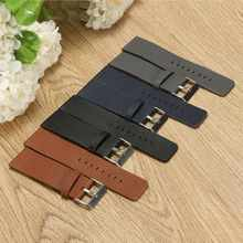 Soft Leather Strap For Fitbit Blaze Smart Fitness Watchband Replacement Black Blue Grey Brown Wristband for Fitbit Blaze Watch(China)