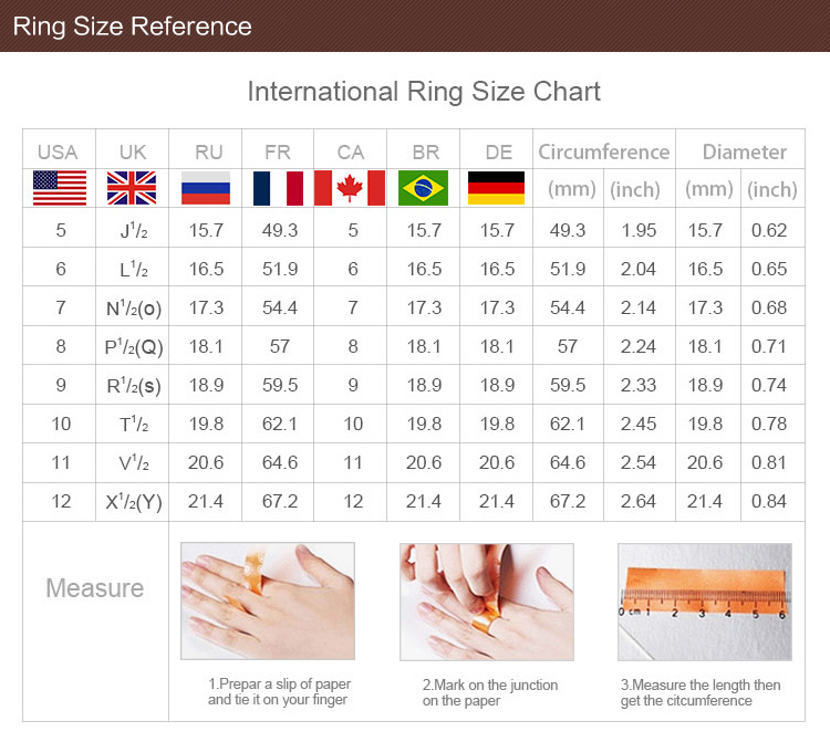 Rings size
