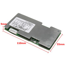 6s 24v Li-ion Lithium Cell 60A 18650 Battery Protection Board with Balance 110x55x9mm disconnect the load can be self recovery(China)