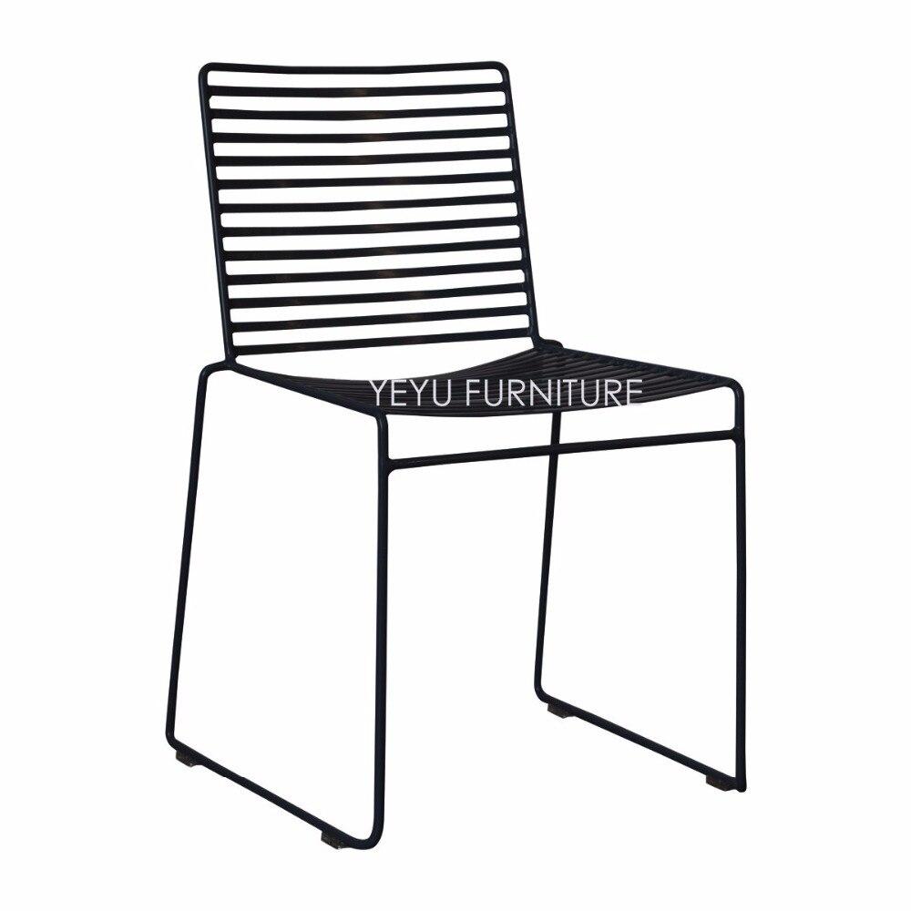 Studio Wire Hee Chair Modern Classic Metal Outdoor Chair Stackable Harry  Bertoia Steel Cafe Side Chair Popular Chair