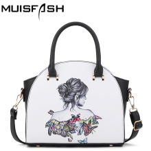 new causal women bags character cartoon printing leather handbags ladies shoulder bag female messenger bag designer pouch LS1171