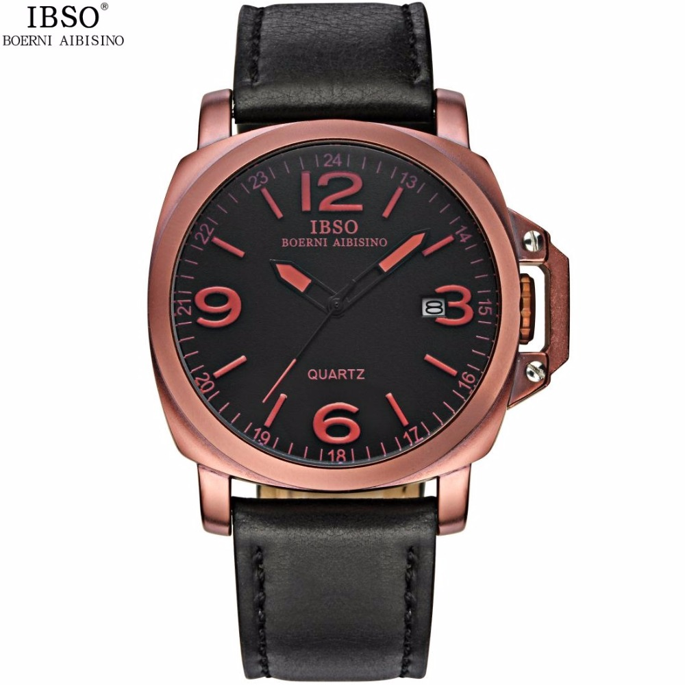 Casual Mens Watches Mens Sports Watch Brand Men Calendar Waterproof Genuine Leather Strap Military Male Quartz Wristwatches<br>