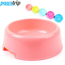 1PC Candy Color Pet Small Dog Bowl Feeding Water Dispenser Chihuahua Yorkie Dog Food Bowl(China)