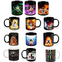 Anime Coffee Mug Color Change Cup Ceramic Cups and Mugs Star Wars Game of Thrones Lord of The Rings Dragon Ball One Pieces(China)