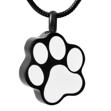 Animal Paw Shape Cremation Urn Ashes Pendant Necklace Classic Hot Sale Memorial Urn Ashes Accessories(China)