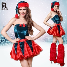 Sexy Sweetheart Miss Red Christmas Corset Top Sexy Ladies Santa Women Naughty Adult Christmas Costume Party Dress Fancy Dress(China)