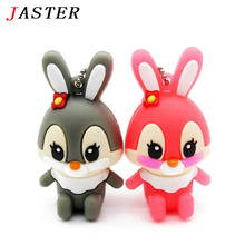 JASTER pen drive cartoon rabbit usb flash drive 4GB 8GB 16GB usb Memory card usb flash memory stick pendrive thumb drive disk