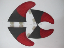 Top quality Carbon Surf fin G5 GX Quad set surfing fins red black 2*G5 side fin 2*GX center rear(China)